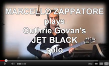 Marcello Zappatore plays Guthrie Govan's JET BLACK